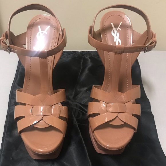 2478a1cba053 Authentic Yves Saint Laurent Tribute Sandals. M 5c3bcf29534ef90cdfe27415